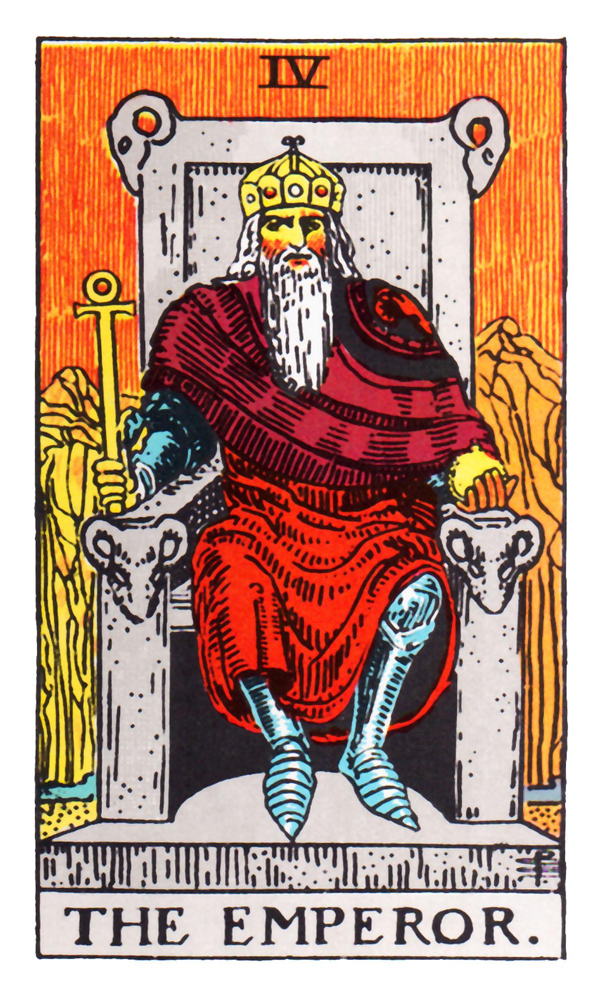Tarot rider-waite-the-emperor-el-emperador Los colores en el tarot y su significado Tarot